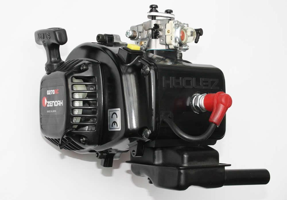 Zenoah G270RC Motor 4 Bold Cilindro Carburettor WT-990 25,5ccm desplazamiento NEU